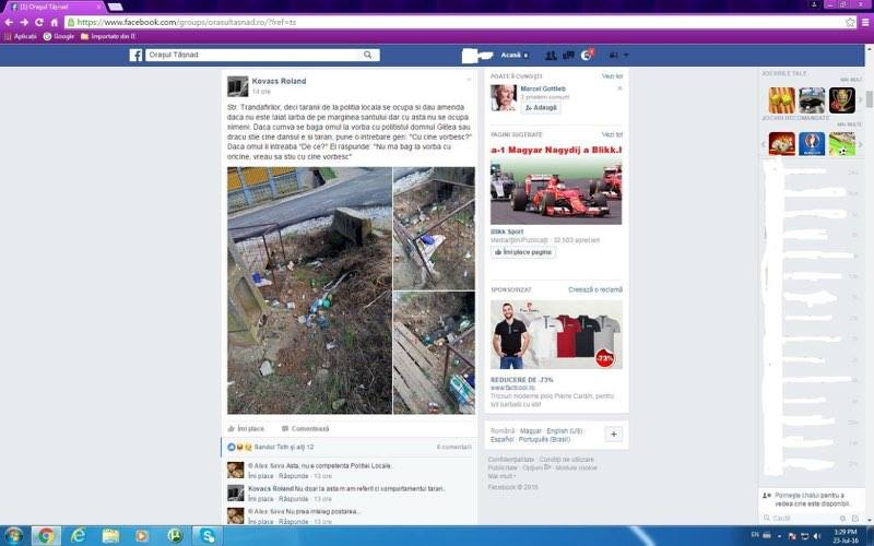 Amendat pentru postarea de pe Facebook