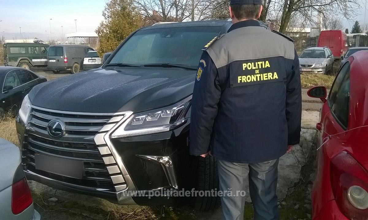 masina lux confiscata de politia de frontiera