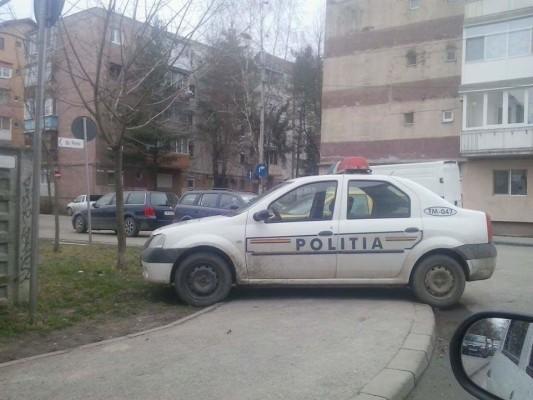 politie parcare