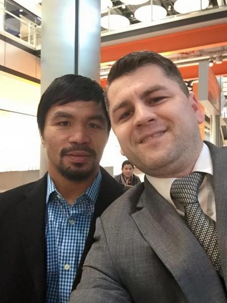 Împreună cu Manny Pacquiao