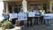 vor protesta în fața Prefecturii Satu Mare