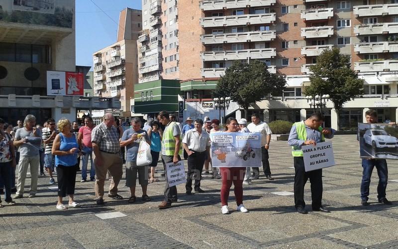 Codrenii au protestat inclusiv în fața Prefecturii Satu Mare
