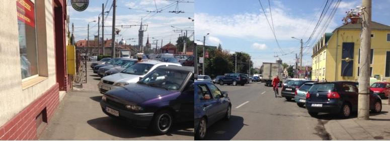 FOTO3: Aici ar trebui eliberată prima bandă pentru circulația rutieră